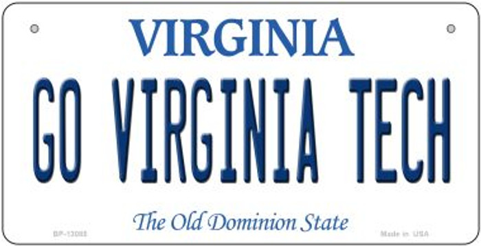 Go Virginia Tech Novelty Metal Bicycle Plate BP-13085