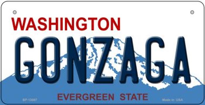 Gonzaga Novelty Metal Bicycle Plate BP-13087
