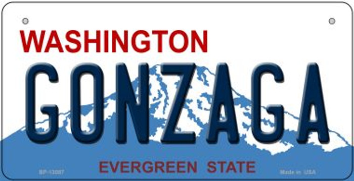 Gonzaga Novelty Metal Bicycle Plate BP-13087