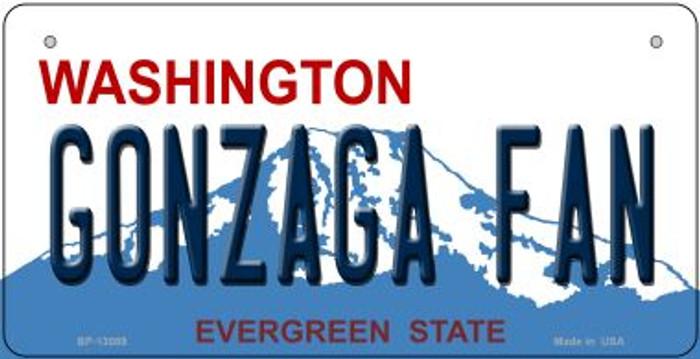 Gonzaga Fan Novelty Metal Bicycle Plate BP-13089