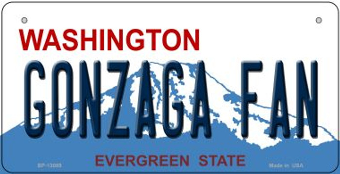 Gonzaga Fan Novelty Metal Bicycle Plate BP-13089