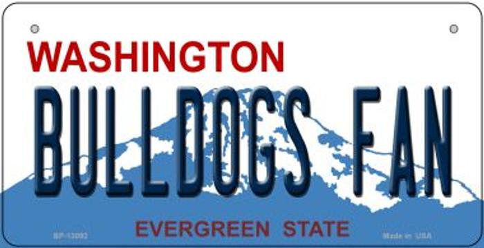 Bulldogs Fan Novelty Metal Bicycle Plate BP-13092
