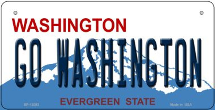 Go Washington Novelty Metal Bicycle Plate BP-13093