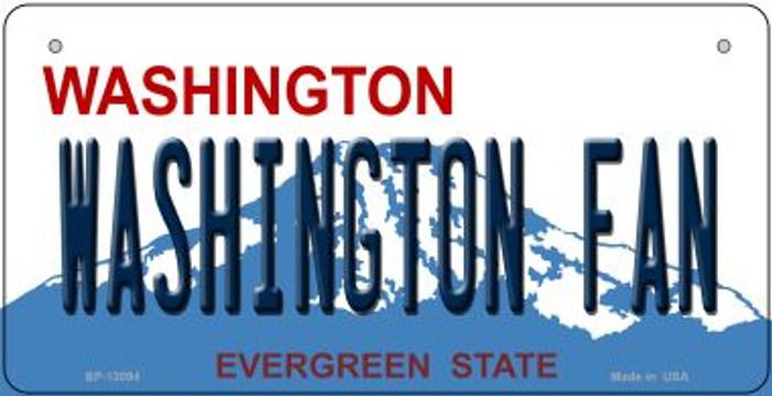Washington Fan Novelty Metal Bicycle Plate BP-13094