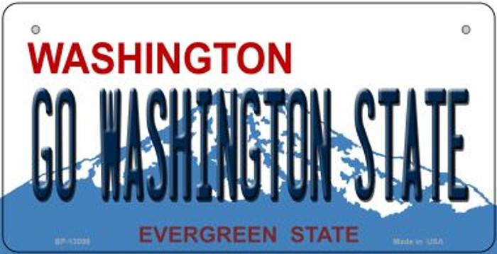 Go Washington State Novelty Metal Bicycle Plate BP-13098