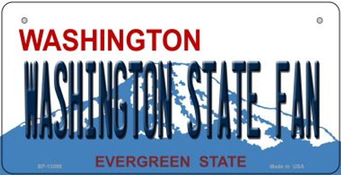 Washington State Fan Novelty Metal Bicycle Plate BP-13099