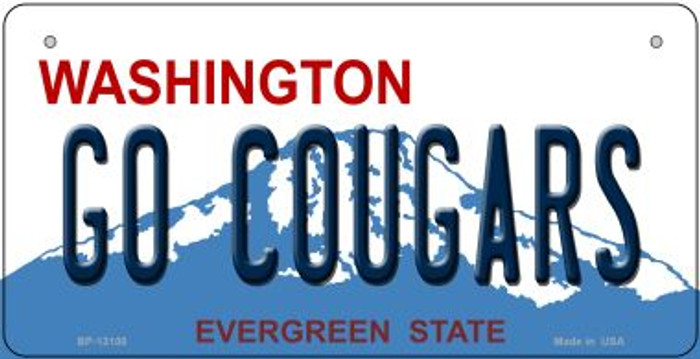 Go Cougars Novelty Metal Bicycle Plate BP-13100