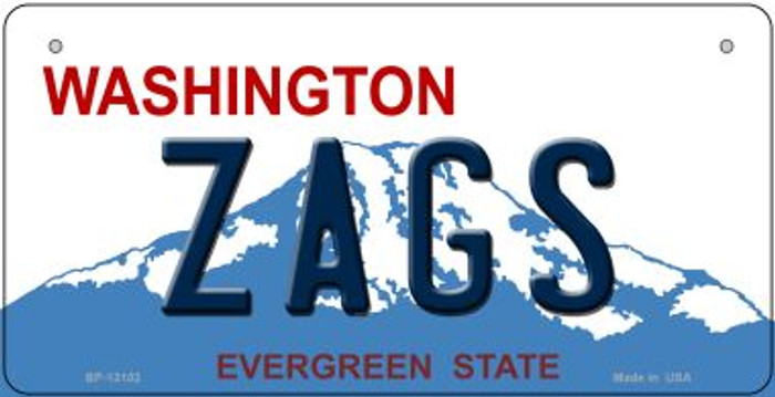 Zags Novelty Metal Bicycle Plate BP-13102