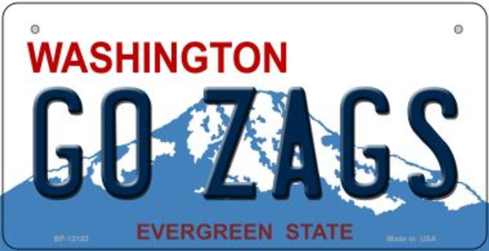 Go Zags Novelty Metal Bicycle Plate BP-13103