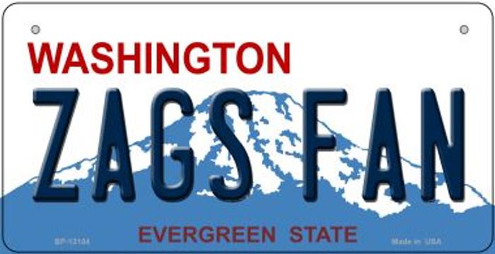 Zags Fan Novelty Metal Bicycle Plate BP-13104