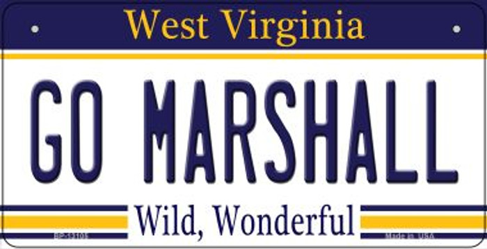 Go Marshall Novelty Metal Bicycle Plate BP-13105