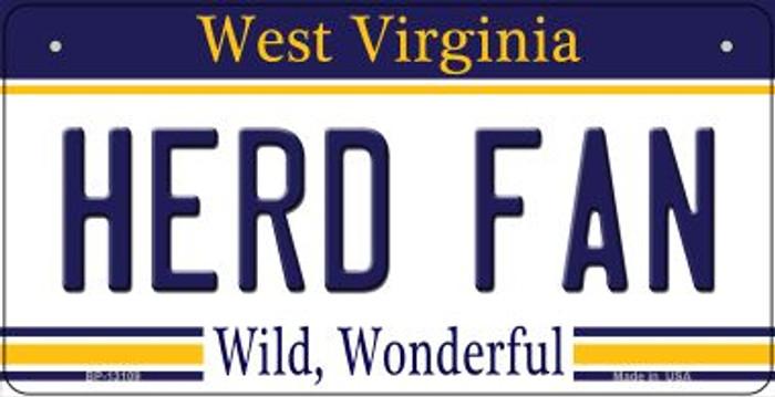 Herd Fan Novelty Metal Bicycle Plate BP-13109