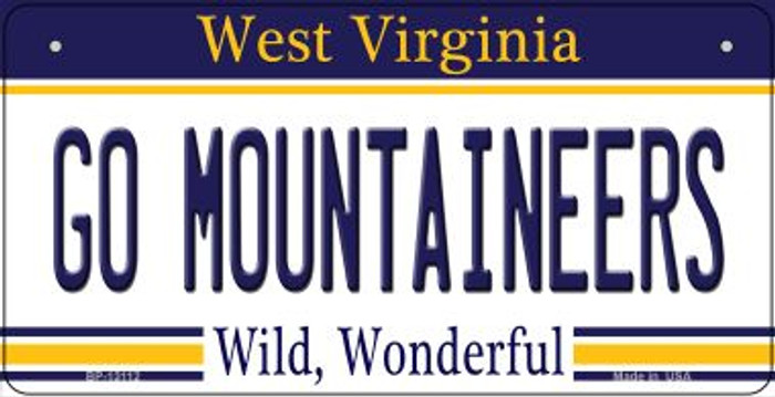 Go Mountaineers Novelty Metal Bicycle Plate BP-13112