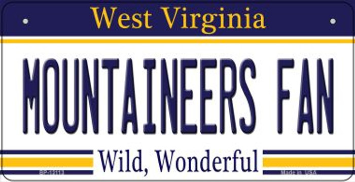 Mountaineers Fan Novelty Metal Bicycle Plate BP-13113
