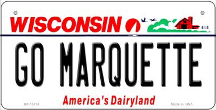 Go Marquette Novelty Metal Bicycle Plate BP-13115
