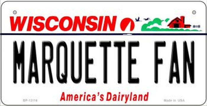 Marquette Fan Novelty Metal Bicycle Plate BP-13116