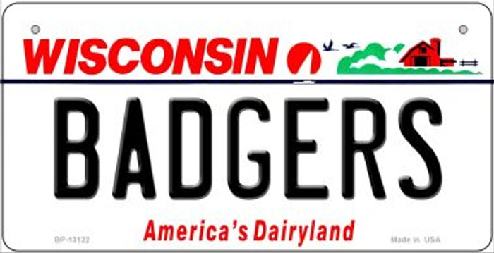 Badgers Novelty Metal Bicycle Plate BP-13122