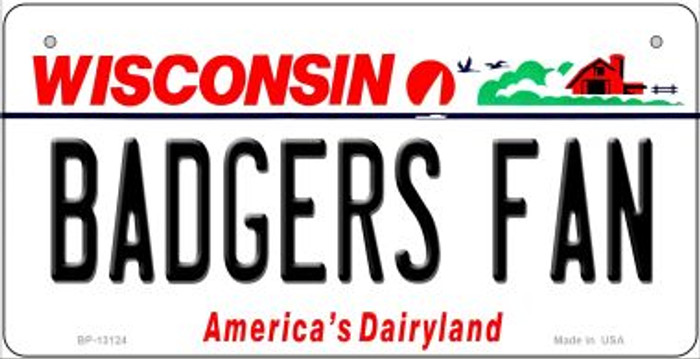 Badgers Fan Novelty Metal Bicycle Plate BP-13124