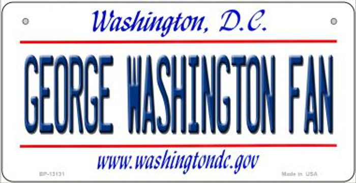 George Washington Fan Novelty Metal Bicycle Plate BP-13131