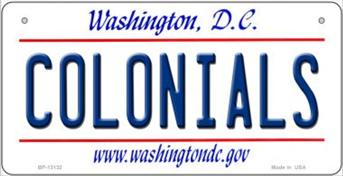 Colonials Novelty Metal Bicycle Plate BP-13132