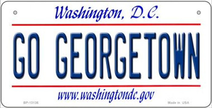 Go Georgetown Novelty Metal Bicycle Plate BP-13136
