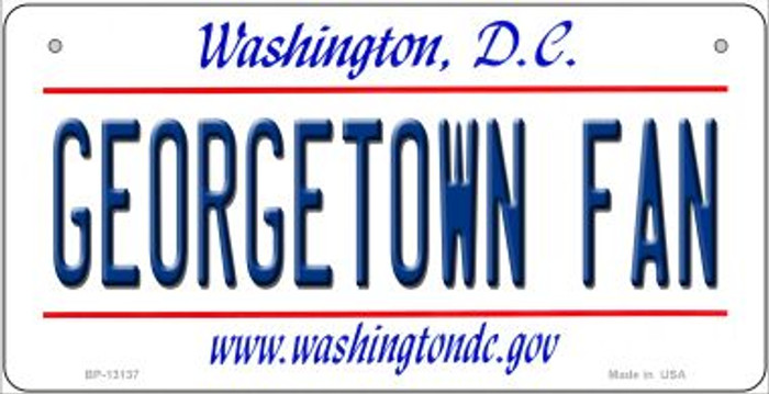 Georgetown Fan Novelty Metal Bicycle Plate BP-13137