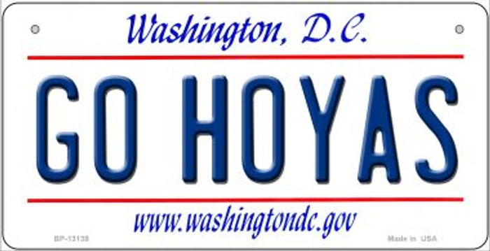 Go Hoyas Novelty Metal Bicycle Plate BP-13139
