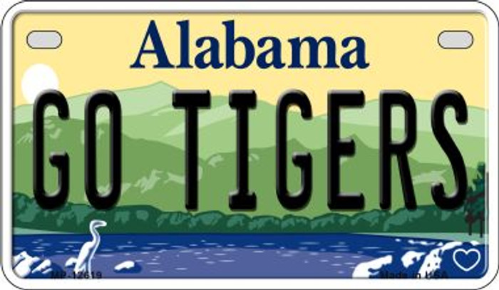 Go Tigers Novelty Metal Motorcycle Plate MP-12619