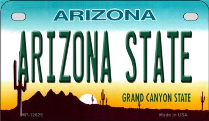 Arizona State Novelty Metal Motorcycle Plate MP-12625