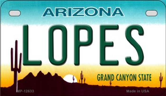 Lopes Novelty Metal Motorcycle Plate MP-12633