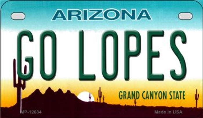 Go Lopes Novelty Metal Motorcycle Plate MP-12634