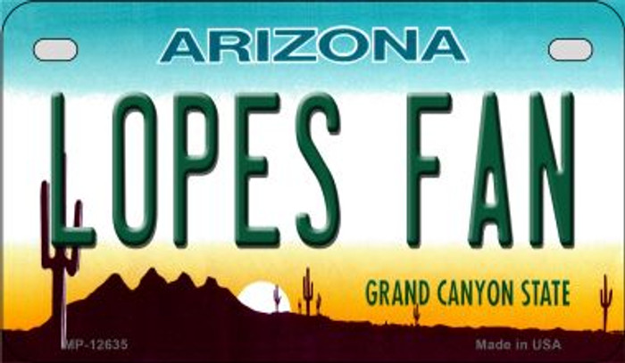 Lopes Fan Novelty Metal Motorcycle Plate MP-12635