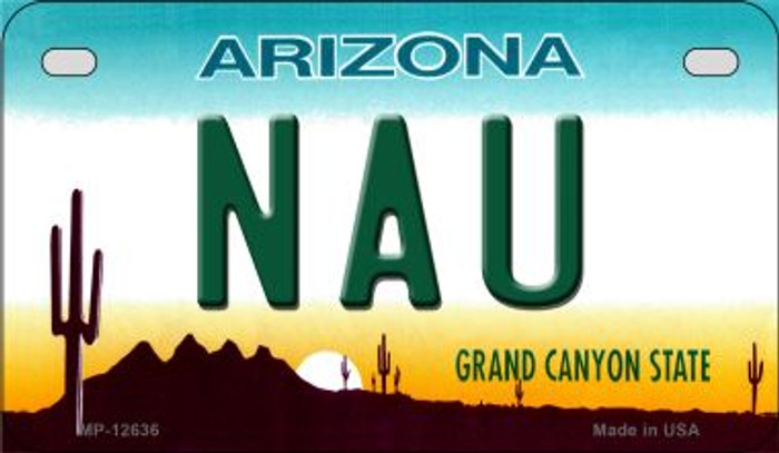 Northern Arizona Univ Novelty Metal Motorcycle Plate MP-12636