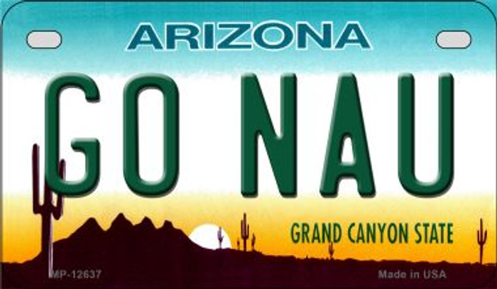 Go Northern Arizona Univ Novelty Metal Motorcycle Plate MP-12637