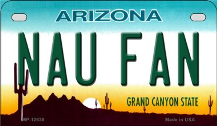 Northern Arizona Univ Fan Novelty Metal Motorcycle Plate MP-12638