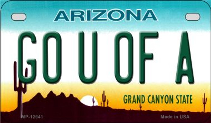 Go Univ of Arizona Novelty Metal Motorcycle Plate MP-12641