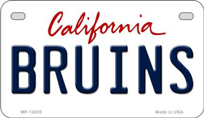 Bruins Novelty Metal Motorcycle Plate MP-12655