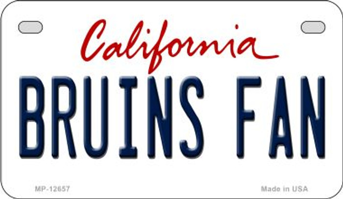 Bruins Fan Novelty Metal Motorcycle Plate MP-12657
