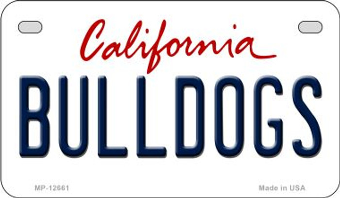 Bulldogs Novelty Metal Motorcycle Plate MP-12661