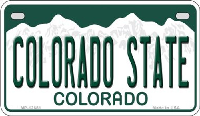 Colorado State Novelty Metal Motorcycle Plate MP-102681