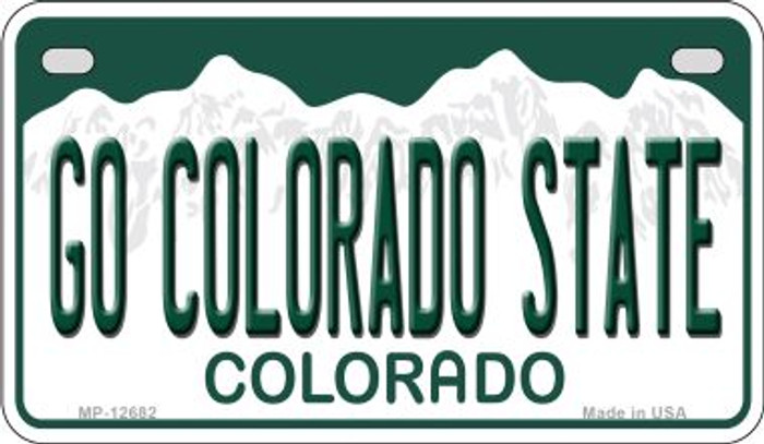 Go Colorado State Novelty Metal Motorcycle Plate MP-12682