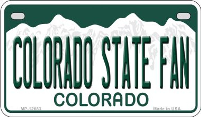 Colorado State Fan Novelty Metal Motorcycle Plate MP-12683