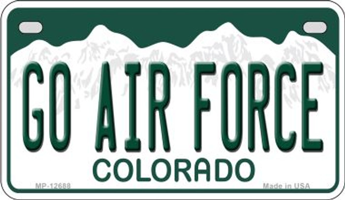 Go Air Force Novelty Metal Motorcycle Plate MP-12688