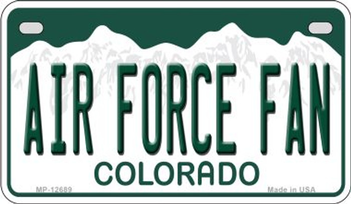Air Force Fan Novelty Metal Motorcycle Plate MP-12689