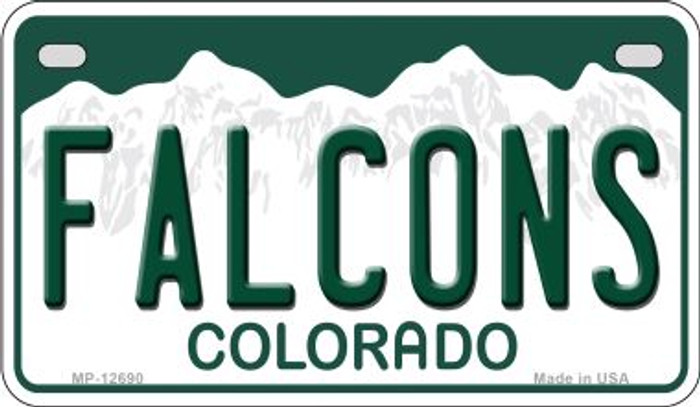 Falcons Novelty Metal Motorcycle Plate MP-12690