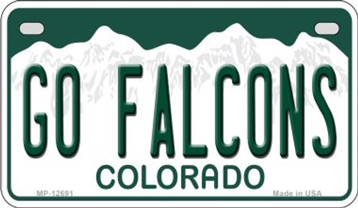Go Falcons Novelty Metal Motorcycle Plate MP-12691