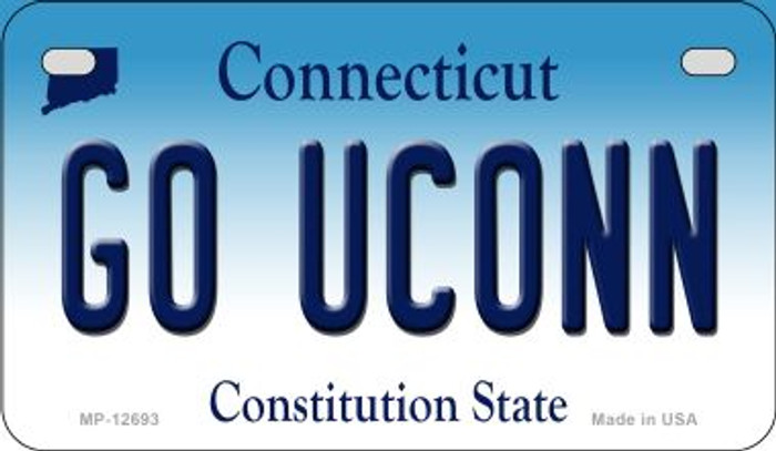 Go UConn Novelty Metal Motorcycle Plate MP-12693