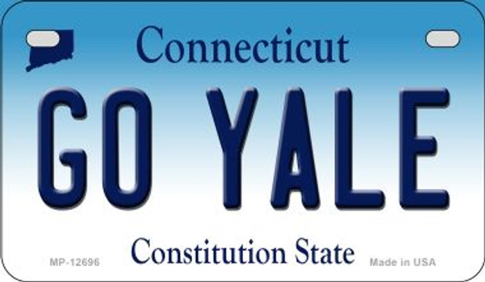 Go Yale Novelty Metal Motorcycle Plate MP-12696