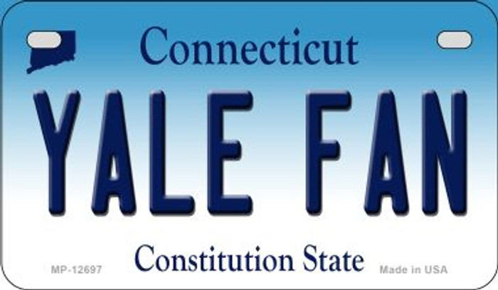 Yale Fan Novelty Metal Motorcycle Plate MP-12697