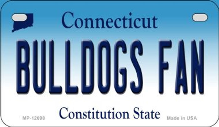 Bulldogs Fan Novelty Metal Motorcycle Plate MP-12698